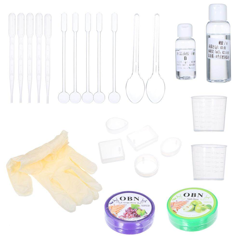 DIY Handmade Resin Casting Molds Kit Ornaments Making Silicone Mould Metal Pendant Craft Kit