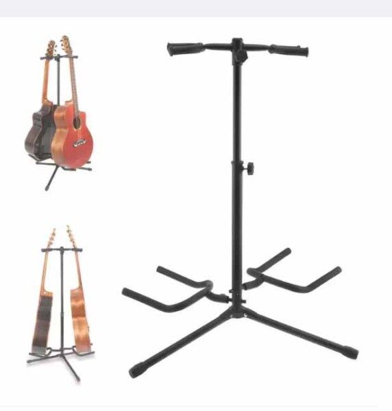 Guitar Stand 2pcs Double Holder Aluminum Alloy Floor Guitar Stand for Display Acoustic Electric Guitar Bass Malaysia