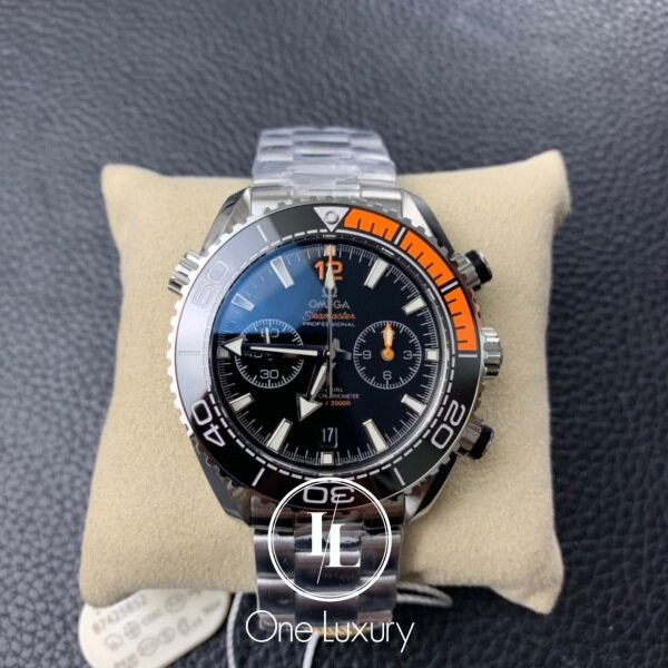 [ONE LUXURY] SEAMASTER PLANET OCEAN 600M CHRONOGRAPH BLACK DIAL ON STAINLESS STEEL BRACELET Malaysia