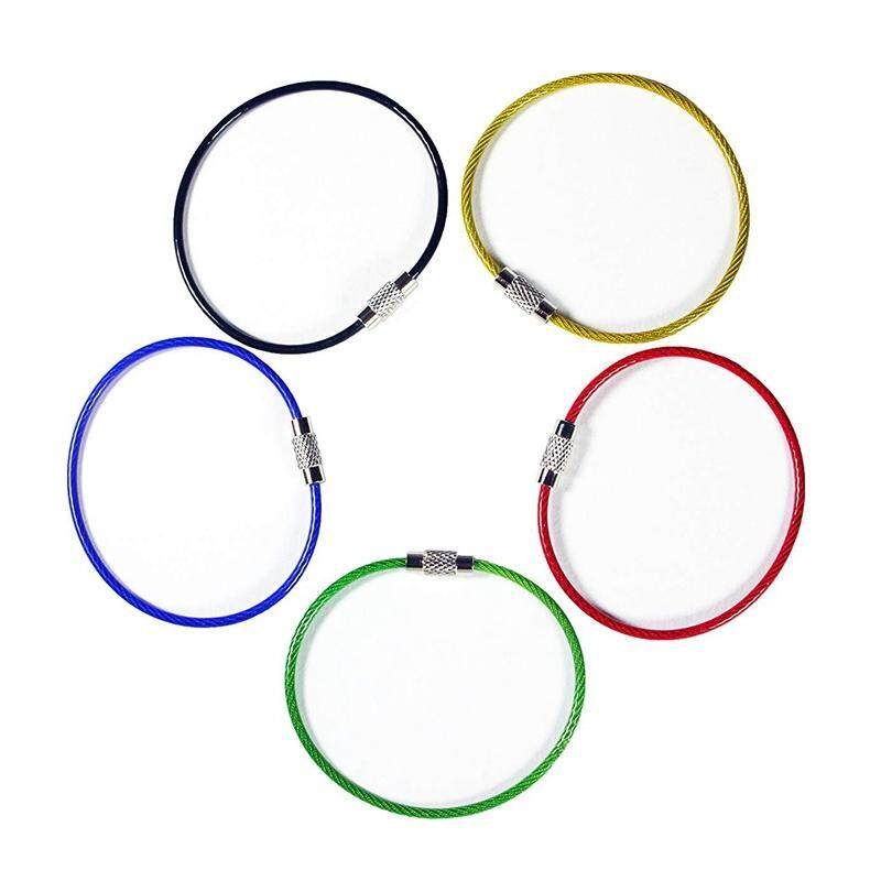 Mua 20Pack Colored Nylon Coated Stainless Steel Wire Keychains 2Mm 6.3 Inches Aircraft Cable Key Ring Loops for Hanging Luggage Tags or ID Tags