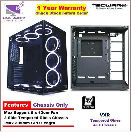 #Tecware VXR TG Premium ATX 2 Side Tempered Glass Gaming Chassis# Malaysia