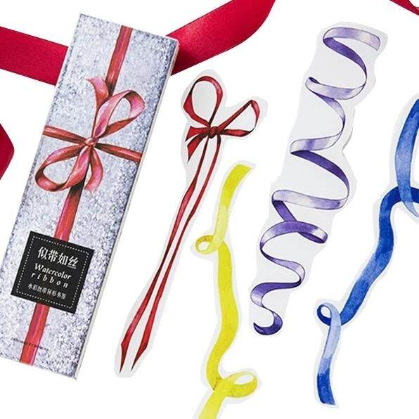 (clearance) 30pcs Watercolor Ribbons Bookmark By Serene Craft And Stationeries.