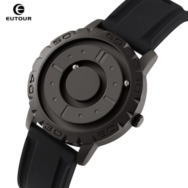 EUTOUR Creative Watch for Men Magnetic Ball Pointer Quartz Clock Male Peculiar Mens Watches Blind Touch to Get Time Gift E030 Malaysia