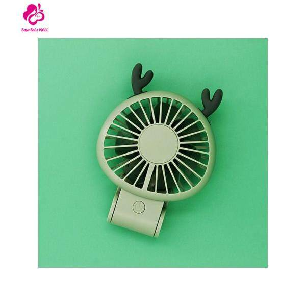 Baby-Bala Baby Car Fans,Devil Elk Style USB Rechargeable 270° Adjustable Handheld Mini Fan Singapore