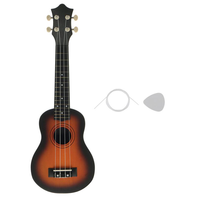 【On Sale】21 Inch Original Beginner Classical Ukulele Guitar Musical Instrument Educational Toy For Kids Milk White/Black/Sun Color/Qriginal Wood Malaysia
