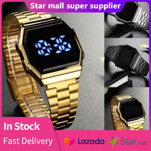 LED Digital Watches Touch Screen Watch Waterproof Fashion Stainless Steel Sports Casual Student Work Man Woman Adults Malaysia