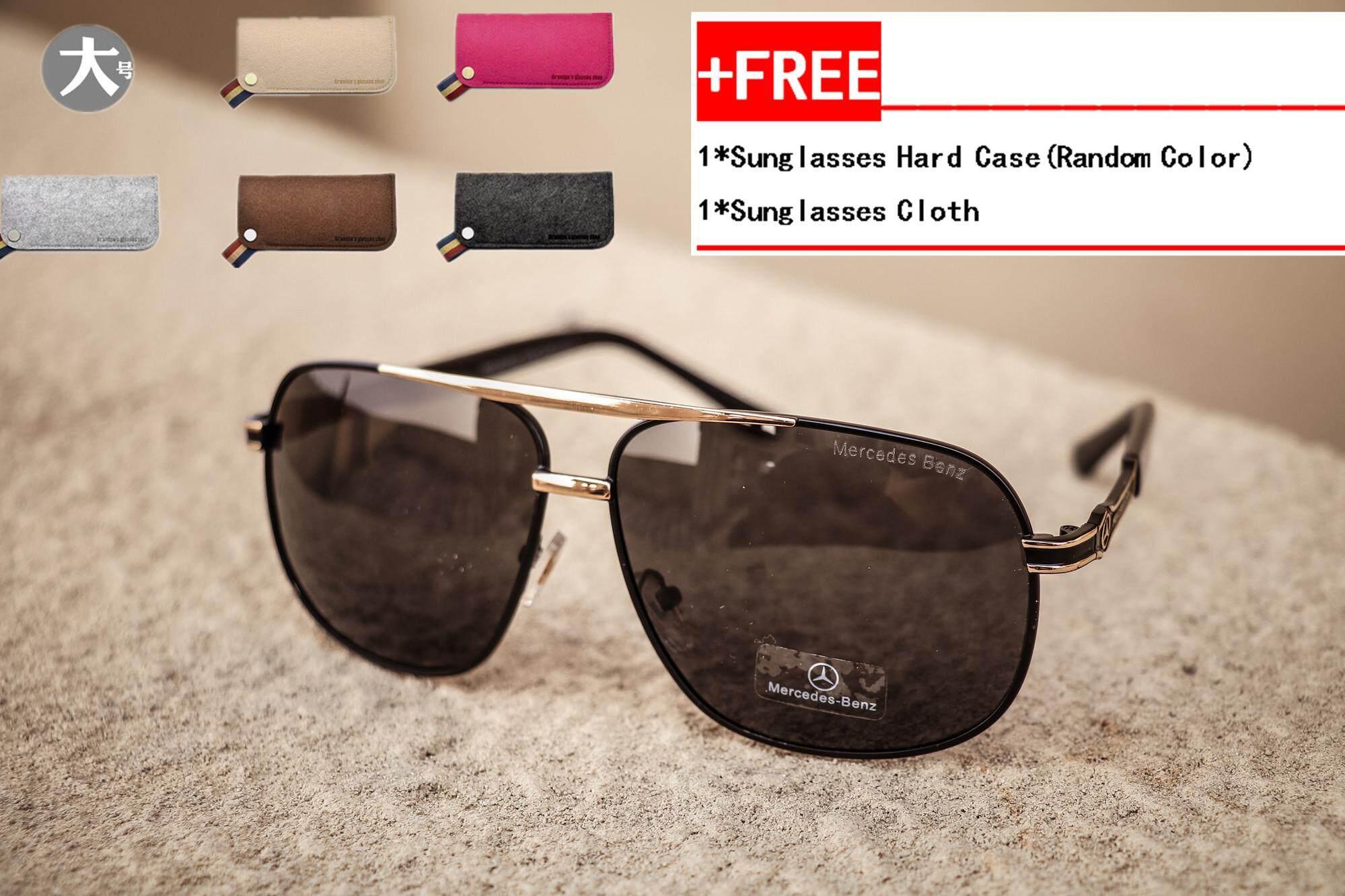 3bea8ff41c1 Men Fashion Sunglasses Men Hipster Polarized UV400 Sunglasses Big Frame  Driving Driver Benz Pooh Mirror