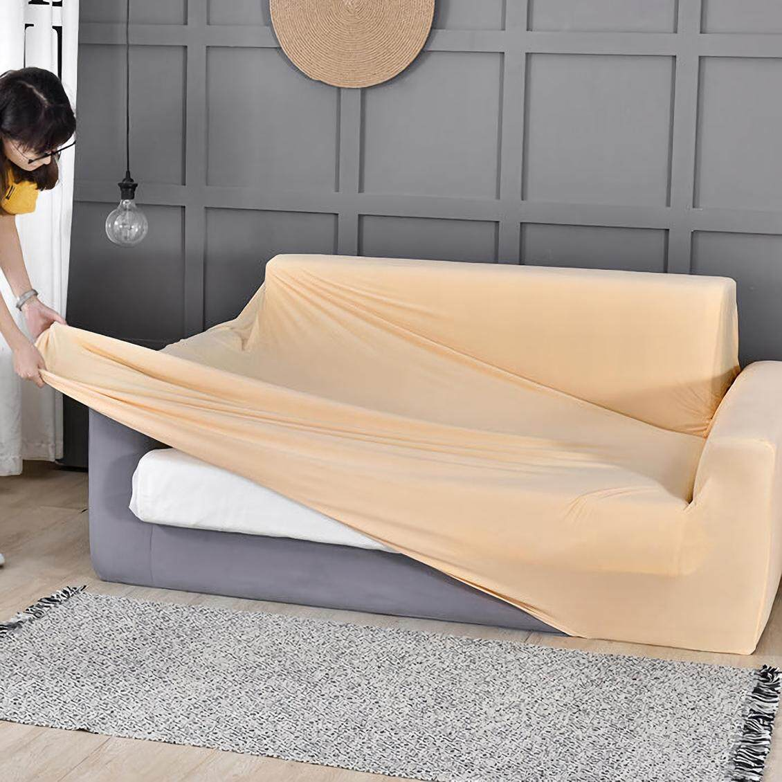 Sheleep Printed Stretch Sofa slipcover, 1-Piece Polyester Spandex Fabric Sofa Cover for Living Room Couch Cover L shape Armchair Cover 1/2/3/4 seater
