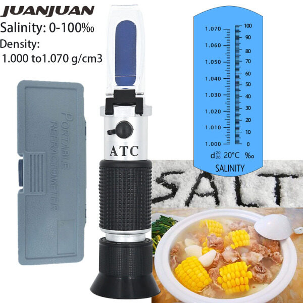 Hand Held Salinity Refractometer Concentration 0-10% for Aquarium Salinity Salt Water Test with Retail Box 50%off
