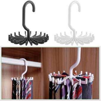 Creative ราวแขวนไทแบบหมุนได้ผ้าไหมที่แขวนผ้าพันคอมัลติฟังก์ชั่น 20 ที่แขวนเนคไทสำหรับ Home