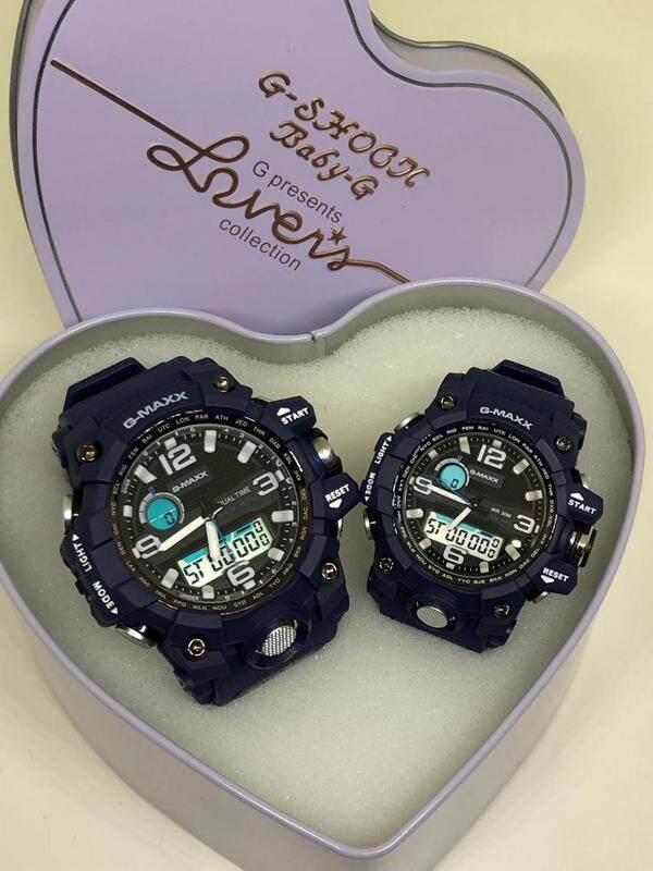 G-MAXX COUPLE WATCHES SET(FULL BLUE) Malaysia