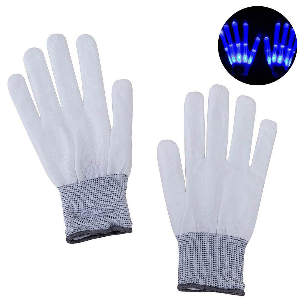 Men's Gloves Fashion 1pair Chic Led Light Up Skeleton Hand Gloves Halloween Christmas Costume Decor New A Great Variety Of Goods