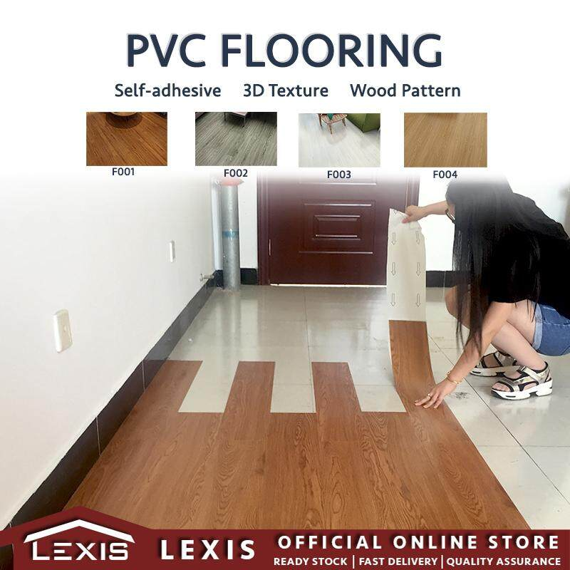 Lexis: 1 set (1m2 / 7 pieces) Self Adhesive Vinyl Flooring (No Glue Needed)