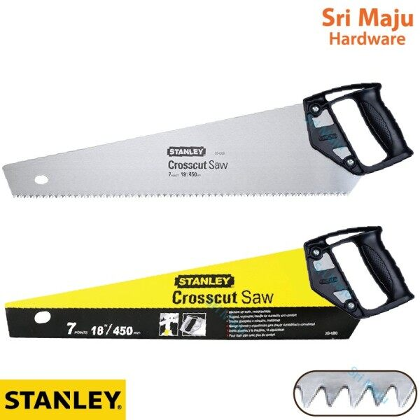 "MAJU Stanley Cross Cut 18"" 20"" Crosscut Hand Saw Gergaji Tangan Kayu 20 004 20 081"