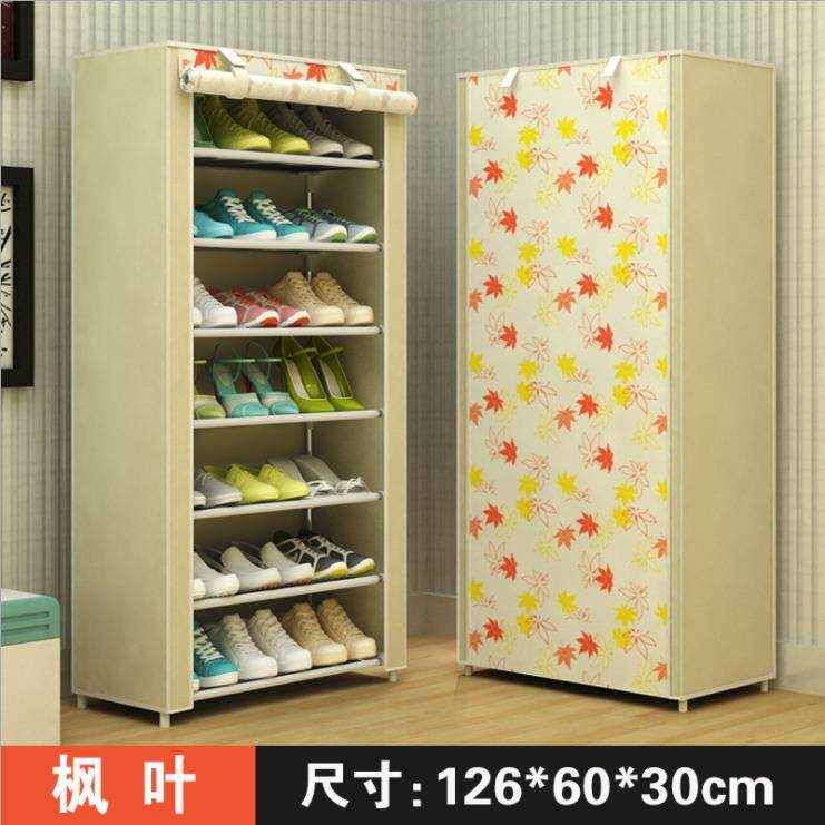 Shoe Rack Simplicity Multilayer Household Dustproof Assembly Economy Dormitory Small Shoe Rack Sub-Large Capacity Cloth Shoe Ark