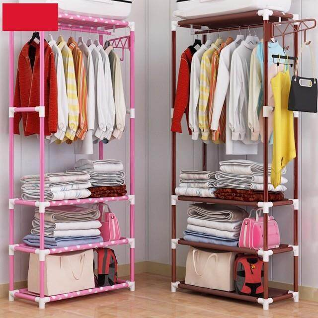 Multifunction Cloth Organizer Storage Rack Open Closet Wardrobe By Eshoppe99.