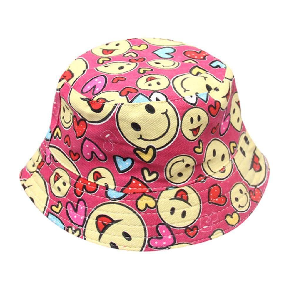 Summer Toddler Baby Kid Boy Girl Floral Pattern Bucket Cotton Hat Sun Helmet Cap