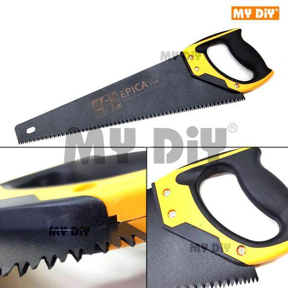 "MYDIYPUSATBANDARPUCHONG - Epica Heavy Duty Double Ground Teeth Hardpoint Universal Handsaw With Soft Grip Handle - Available Hand Saw Size 18"" or 20"""