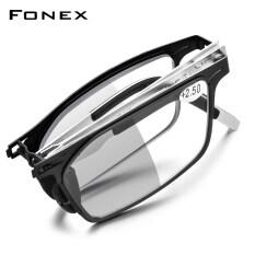 FONEX Kính Đọc Sách Gấp Gọn Chống Chặn Ánh Sáng Màu Xám Đổi Màu, Máy Đọc Viễn Thị Nam Nữ 2021 Screwless Kính Mắt LH015