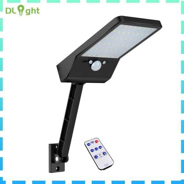 48 Đèn LED Điều Khiển Từ Xa Năng Lượng Mặt Trời, Đèn Tường Ngoài Trời Cảm Biến Chuyển Động PIR IP65
