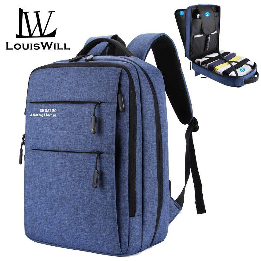 23ced9ef8dac LouisWill Laptop Backpacks Wear-resistant Shoulder Backpack Oxford  Waterproof Computer Bag Backpack with USB Charging Port Anti-theft College  Daypack ...