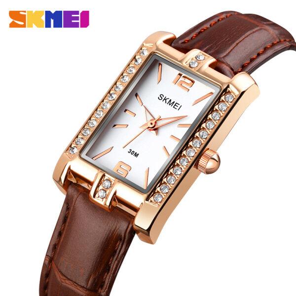 【10-Year Battery】SKMEI Women Fashion Watch Elegant Quartz Leather Stainless Steel Watch Waterproof Ladies Wrist Watch For Women 1690 Malaysia