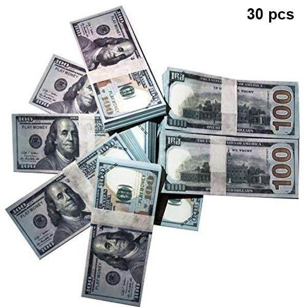 Chương Trình Ưu Đãi cho Bộ 30/60 Bản Sao Tiền Phim Chống Đỡ Full In Hình 2 Mặt $100 Đô La Tiền Ngăn Xếp Cho Phim Truyền Hình Đào Tạo