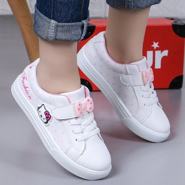 Giày thể thao in hoạt hình Hello Kitty cho bé gái, giày vải đế cao su chống trơn trượt phong cách giản dị thích hợp mang hàng ngày - INTL giá rẻ