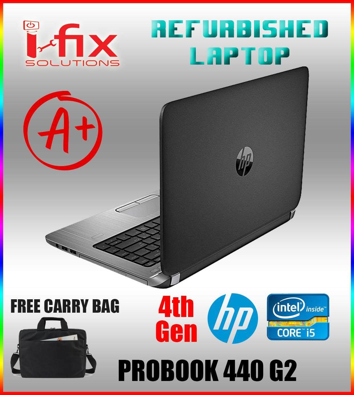 GRADE A REFURBISHED HP PROBOOK 440 G2  LAPTOP / Core i5@4th Gen / 4GB DDR3 / 480GB SSD Malaysia