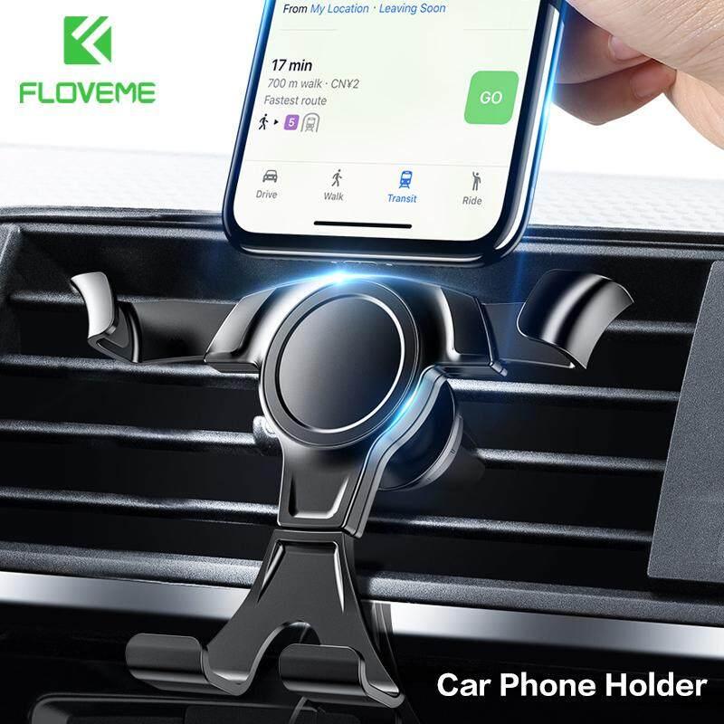 Floveme Ventilasi Udara Gravitasi Mobil Pemegang Telepon Mobil Universal Gagang Jepit Ikat Penyangga iPhone X XS/Samsung S8 S9 Plus/OPPO R15/ vivo Y85/XIAOMI Redmi 5 Plus Dll