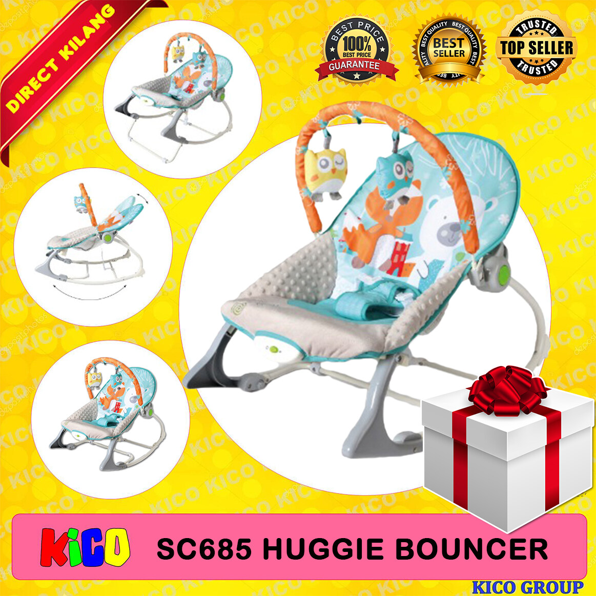 ⚡ SPECIAL FREE GIFT ⚡ Sweet Cherry SC685 Huggie Bouncer (Auto)
