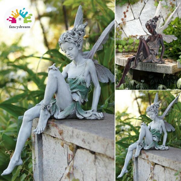 Fancydream Tượng Thần Tiên Ngồi Tudor Và Turek, Vườn Trang Trí, Nhựa Trang Trí Sân Vườn Thủ Công