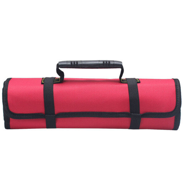 Túi Dụng Cụ Dạng Cuộn Tay Cầm Tiện Dụng, Dụng Cụ Túi Cuộn Đục Vải Oxford (Không Có Dụng Cụ) -- Blue / Red / Blac