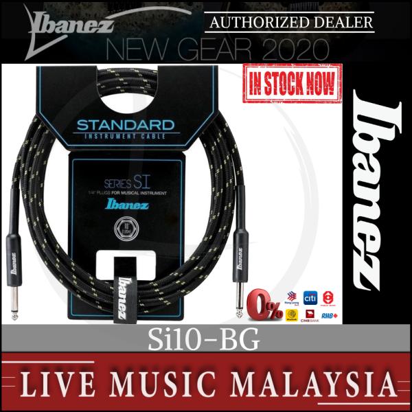 Ibanez SI10-BG Woven Guitar Cable Beige SI10BG SI10 BG Malaysia