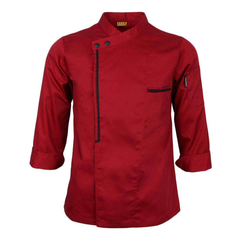 Dolity Unisex Long Sleeve Chef Jacket Catering Kitchen Waiter Waitress Apparel Coat