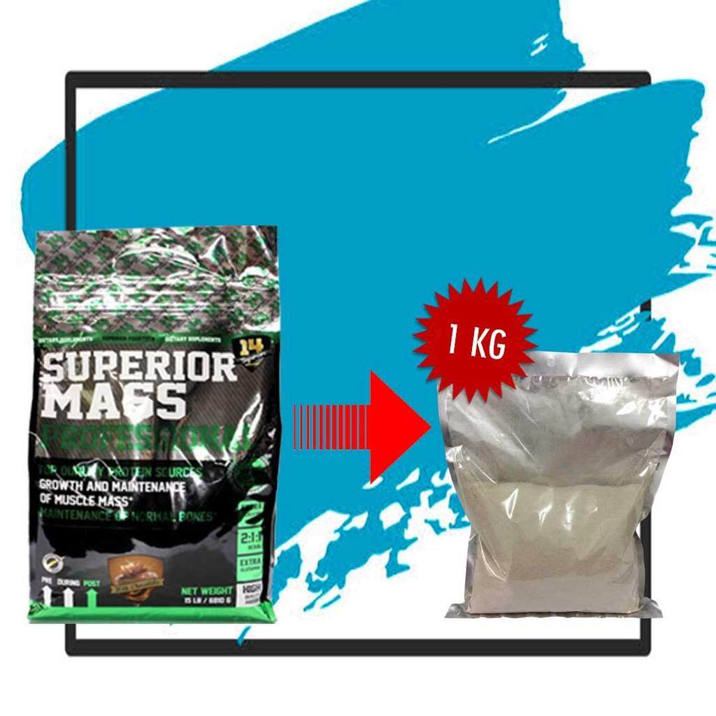 Superior Mass Repack Chocolate 1 Kg + Free Shaker By As Protein Store.
