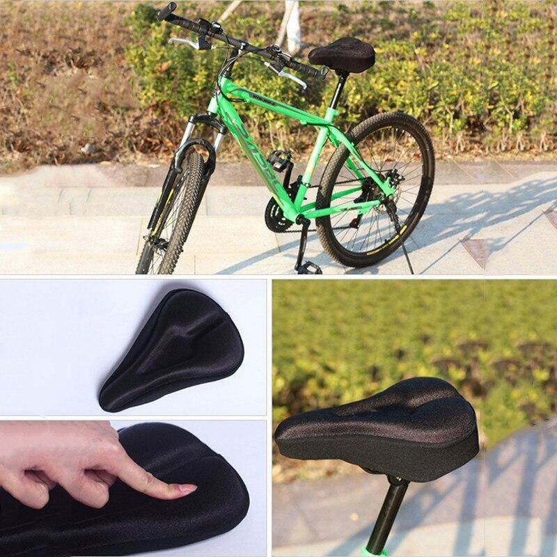 New Lightweight  Bicycle Silicone Saddle Seat Cover Silica Gel Cushion Pad HI