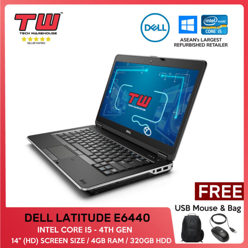 💥💰TECH DEAL 💥💰DELL LATITUDE E6440/INTEL CORE I5 - 4TH GEN/ LAPTOP/ 14 (HD) / 4GB RAM /320GB HDD/TECH WAREHOUSE (FACTORY REFURBISHED) Malaysia