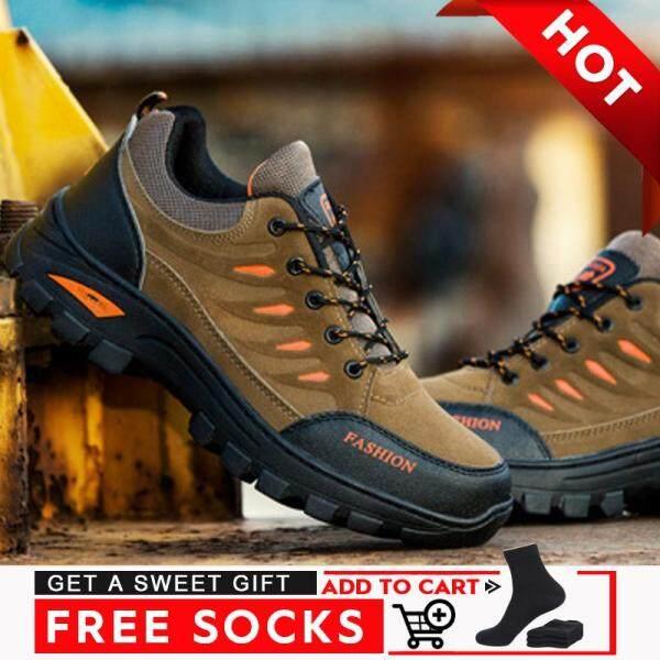 Giày thể thao nam chống trượt, chống mài mòn, thoáng khí, không thấm nước phù hợp để đi bộ đường dài - INTL
