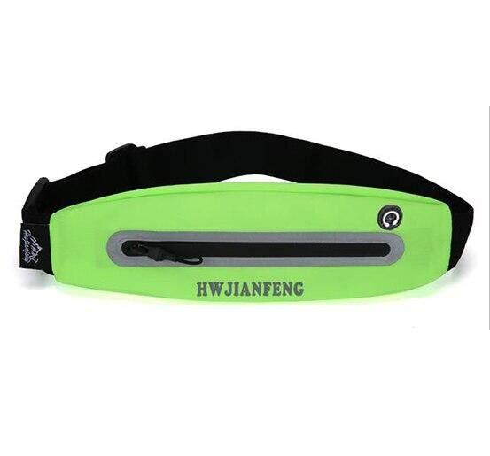 Safety Reflective Running Waist Hidden Bag Ultralight Night Elastic Running Belt Waist Fanny Pack Phone Belt Sport Jogging Band
