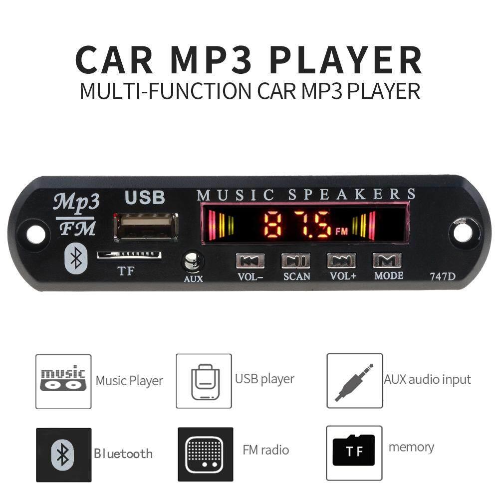 5 V 12 V Nirkabel Bluetooth Mp3 Wav Dekoder Wma Papan Mp3 Player Modul Audio Mobil Kit Dengan Usb U Disk Radio Tf Fm 3.5 Mm Fungsi Pembantu Musik Penerima Audio Dengan Pengendali Jarak Jauh (led Dan Layar Lcd Warna Versi Untuk Opsional) By Meiteai.