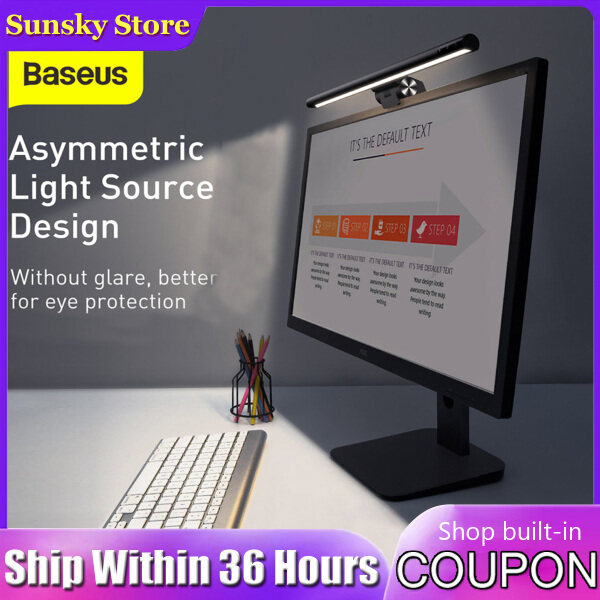 Baseus I-Work Series Youth Version USB Asymmetric Light Source LED Dimmable Office Computer Screen Monitor Hanging Light Bar Eye-Caring Table Lamp for Study Reading
