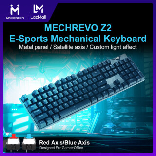 [Local Warranty] MAIBENBEN MECHREVO Z2 E-Sports Mechanical Keyboard 104 Keys Gaming Keyboard Blue Switch Red Switch Anti-Ghosting Metal Panel Custom Light Wired USB For PC Desktop Computer Laptop Notebook Free Shipping thumbnail