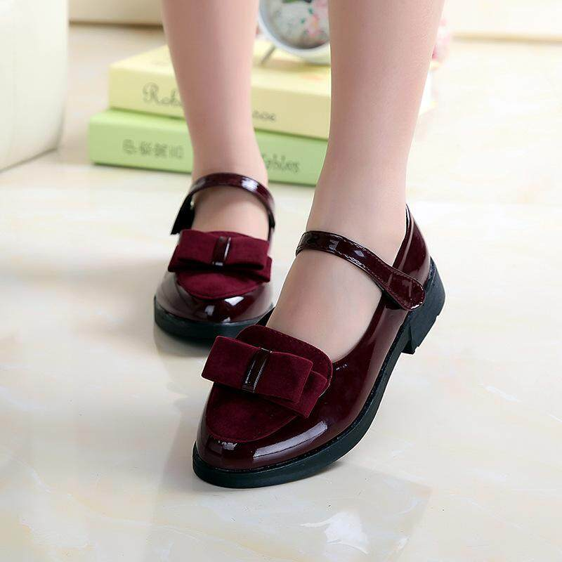 Bow Tie Girl Leather Shoes Princess Shoes For Children Childrens Shoes Student Casual Shoes By Fashion Frontier.