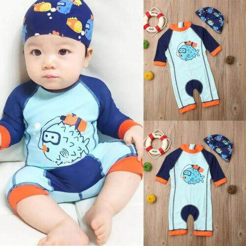 Kid Baby Boy Girl Swimsuit Swimwear Bathing Beach Rash Guard Surfing Suit Upf50+ By Staire On.