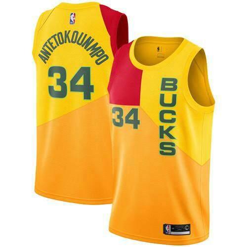 best sneakers 73ae0 192cb Liuppc White NBA Milwaukee Bucks Men's Giannis Antetokounmpo Swingman  Jersey Basketball Clothes #34 Authentic Top High Quality Association Edition
