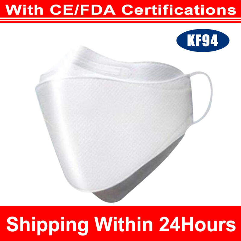 [Shipping Within 24h][20Pcs]KF94 Face Macker Triple Filter Macker 94% Filtration Adaptable Nose Bar 3Ply Protective Face Macker Soft & Breathable Non-woven Fabric Earloop Mouth Face Macker Protection against Droplet Dust Particles Pollution