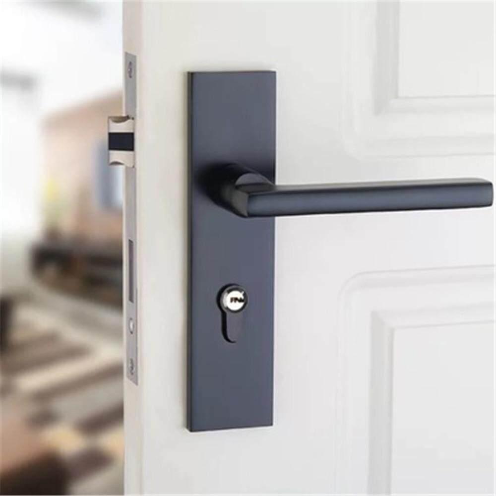 TTLIFE Simple Household Handle Interior Door Black Lock Silent Security Door