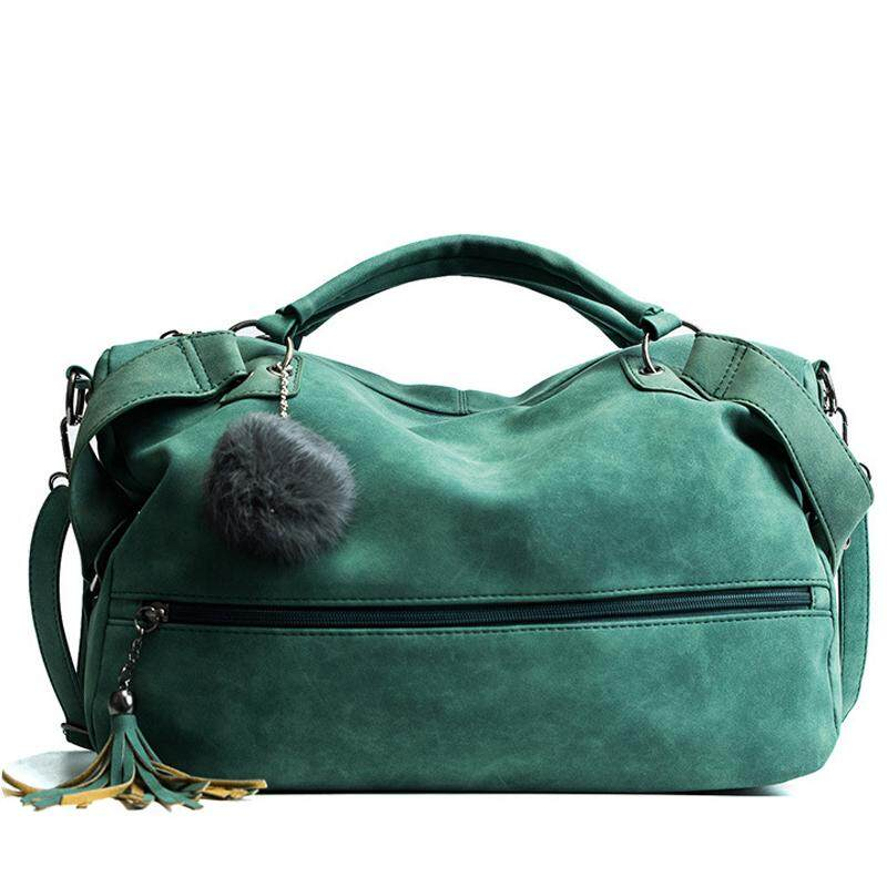 Fur Ball Women Handbags High Quality PU Leather Women Crossbody Bags Fashion Tassel Women Messenger Bags Scrub Bags For Ladies