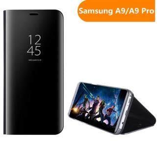 Zeallion Dành Cho Samsung Galaxy A9 A9 Pro Gương Mạ Lật Giá Đỡ Đứng Bằng Da Trong Suốt Vỏ Bọc Tay thumbnail